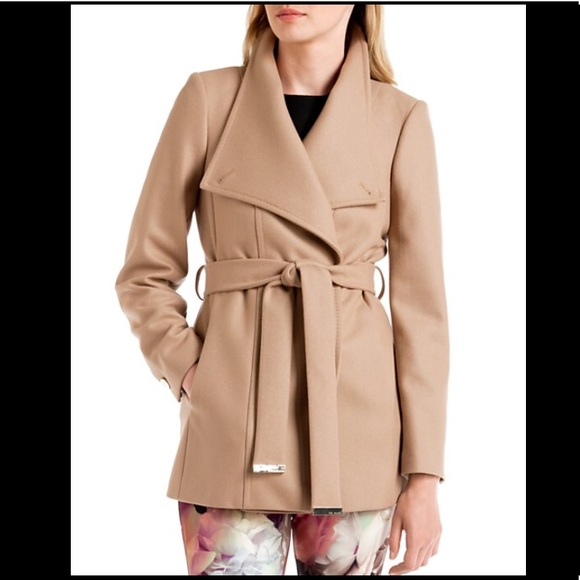 100% satisfaction professional sale the sale of shoes Ted Baker Short Wrap Coat in Camel